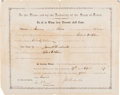 "Autographs:Statesmen, James W. Throckmorton Appointment Document Signed as Governor ofTexas ""J. W. Throckmorton."" ..."