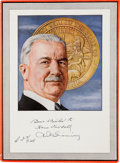 "Autographs:Celebrities, Amadeo Pietro Giannini Portrait Inscribed ""Best Wishes to HansFaxdahl A. P. Giannini.""..."