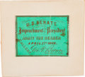 Autographs:U.S. Presidents, Ticket for the Impeachment of President Andrew Johnson....