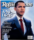 "Autographs:U.S. Presidents, Barack Obama Rolling Stone Magazine Endorsing Him ForPresident Signed ""Barack Obama.""..."