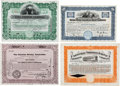 Autographs:Celebrities, Group of Four Stock Certificates Signed by Prominent American Businessmen.... (Total: 4 Items)
