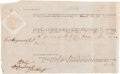 "Autographs:Statesmen, Thomas Heyward, Signer of the Declaration of Independence DocumentSigned ""Thos. Heyward Jun.""..."