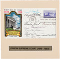 Autographs:Statesmen, National Capital Sesquicentennial First Day Cover Signed by theVinson Court, 1950....