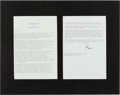 Autographs:U.S. Presidents, William Jefferson Clinton Typed Letter Signed...