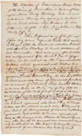 "Autographs:Statesmen, Simon Kenton Manuscript Document Signed ""Simon Kenton.""..."