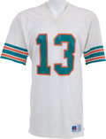 Football Collectibles:Uniforms, Early Career Dan Marino Game Worn Miami Dolphins Jersey - Two Team Repairs! ...