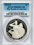 Modern Issues, 2010-P $1 Boy Scouts PR69 Deep Cameo PCGS. PCGS Population(4706/1619). NGC Census: (4772/3158). Numismedia Wsl. Price for...