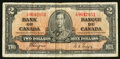 Canadian Currency: , BC-22c $2 1937. ...