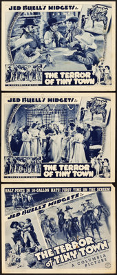 "The Terror of Tiny Town (Columbia, 1937). Title Lobby Card and Lobby Cards (2) (11"" X 14""). ... (Total: 3 Item..."