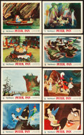 "Movie Posters:Animation, Peter Pan (RKO, 1953). British Front of House Color Photo Set of 8 (8"" X 10"").. ... (Total: 8 Items)"