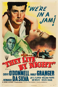 """They Live by Night (RKO, 1948). One Sheet (27"""" X 41"""")"""