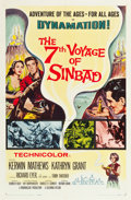 "Movie Posters:Fantasy, The 7th Voyage of Sinbad (Columbia, 1958). One Sheet (27"" X 41"").Fantasy.. ..."