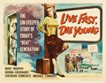 "Movie Posters:Bad Girl, Live Fast, Die Young (Universal International, 1958). Half Sheet(22"" X 28"").. ..."