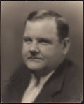 """Movie Posters:Comedy, Oliver Hardy (1920s). Autographed Portrait Photo (10.5"""" X 13.25"""")....."""