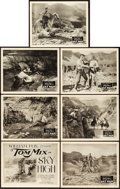 "Movie Posters:Western, Sky High (Fox, 1922). Title Lobby Card & Lobby Cards (6) (11"" X 14"").. ... (Total: 7 Items)"