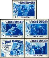 """The Lone Ranger (Republic, 1938). Title Lobby Card and Lobby Cards (4) (11"""" X 14""""). Chapter 3 -- """"The Pit..."""