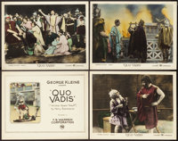 """Quo Vadis (F.B. Warren Corporation, R-Early 1920s). Title Lobby Card & Lobby Cards (3) (11"""" X 14""""). ... (T..."""