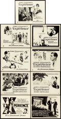 """Movie Posters:Drama, Experience (Paramount, 1921). Lobby Card Set of 9 (11"""" X 14"""").. ...(Total: 9 Items)"""