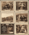 """Movie Posters:Serial, White Eagle (Pathé, 1922). Title Lobby Cards (2) & Lobby Cards(8) (11"""" X 14"""") Episode 1 -- """"The Sign of the Trident"""" &Epis... (Total: 10 Items)"""