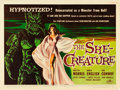 "Movie Posters:Science Fiction, The She-Creature (American International, 1956). Half Sheet (22"" X28"").. ..."