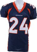 Football Collectibles:Uniforms, 2005 Champ Bailey Game Worn, Unwashed and Signed Denver Broncos Jersey - Photomatched!...