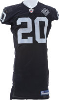 Football Collectibles:Uniforms, 2009 Darren McFadden Game Worn, Unwashed Oakland Raiders Jersey....