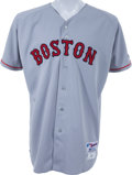 Baseball Collectibles:Uniforms, 2004 Curt Schilling Game Worn Boston Red Sox Jersey....