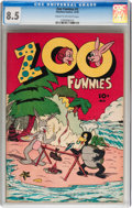 Golden Age (1938-1955):Funny Animal, Zoo Funnies #2 (Charlton, 1945) CGC VF+ 8.5 Cream to off-whitepages....