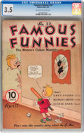 Platinum Age (1897-1937):Miscellaneous, Famous Funnies #33 (Eastern Color, 1937) CGC VG- 3.5 Off-white towhite pages....