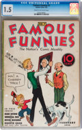 Platinum Age (1897-1937):Miscellaneous, Famous Funnies #7 (Eastern Color, 1935) CGC FR/GD 1.5 Cream tooff-white pages....