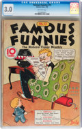 Platinum Age (1897-1937):Miscellaneous, Famous Funnies #12 (Eastern Color, 1935) CGC GD/VG 3.0 Off-whitepages....