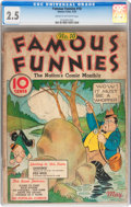 Platinum Age (1897-1937):Miscellaneous, Famous Funnies #10 (Eastern Color, 1935) CGC GD+ 2.5 Cream tooff-white pages....