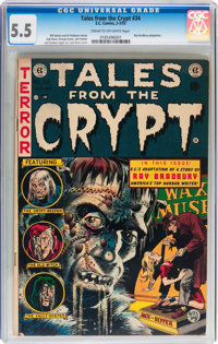 Tales From the Crypt #34 (EC, 1953) CGC FN- 5.5 Cream to off-white pages