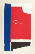 Prints:Contemporary, ROBERT MOTHERWELL (American, 1915-1991). On the Wing, 1984.Lithograph in colors with collage and embossing on Arches Co...