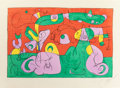 Prints:European Modern, JOAN MIRÓ (Spanish, 1893-1983). Ubu Roi, 1966. Lithograph incolors. 16-1/8 x 24-1/2 inches (40.9 x 62.2 cm). Ed. HC (as...