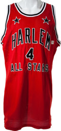 Basketball Collectibles:Uniforms, Late 1980's Harlem All Stars Game Worn Jersey and Shorts....