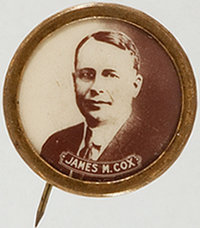 James M. Cox: Real Photo Picture Pin