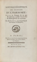 Books:Music & Sheet Music, [Music Sammelband]. Seven Titles Mainly Related to Music orRousseau Bound in Two Volumes. Including: [Pierre] Estève. N...(Total: 2 Items)