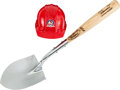 Baseball Collectibles:Others, 2004 Stan Musial Used Shovel & Hard Hat for New Busch StadiumGroundbreaking....