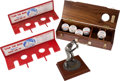 Baseball Collectibles:Others, Stan Musial Wooden Baseball Case, Bat Racks (2) & Statue....