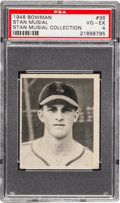 Baseball Cards:Singles (1940-1949), Stan Musial's Personally Owned 1948 Bowman Rookie #36 Card, PSAVG-EX 4....
