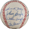 Autographs:Baseballs, 1942 St. Louis Cardinals Team Reunion Signed Baseball from The StanMusial Collection....