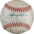 Autographs:Baseballs, 1962 St. Louis Cardinals Team Signed Baseball from The Stan MusialCollection....