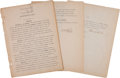 Autographs:Others, 1907 A.J. Reach Company Corporate By-Laws Contract Signed by Ben& Thomas Shibe....