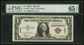 Small Size:World War II Emergency Notes, Low Serial Number C00003731C Fr. 2300 $1 1935A Hawaii Silver Certificate. PMG Gem Uncirculated 65 EPQ.. ...