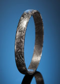 Gems:Jewelry, MUONIONALUSTA BANGLE BRACELET. Iron fine octahedrite - IVA.Northern Sweden - (67° 48'N, 23° 6'E). ...