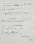 Autographs:Military Figures, Robert E. Lee Manuscript Document Engrossed in Lee's Hand andSigned...