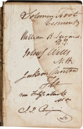 Autographs:Military Figures, Judah P. Benjamin Signed Copy of Obituary Addresses on the Occasion of the Death of the Hon. William R. King....
