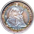 Proof Seated Dimes, 1873 10C Arrows PR67 ★ NGC. CAC....