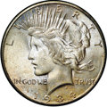 Peace Dollars, 1934-S $1 MS65+ NGC. CAC....